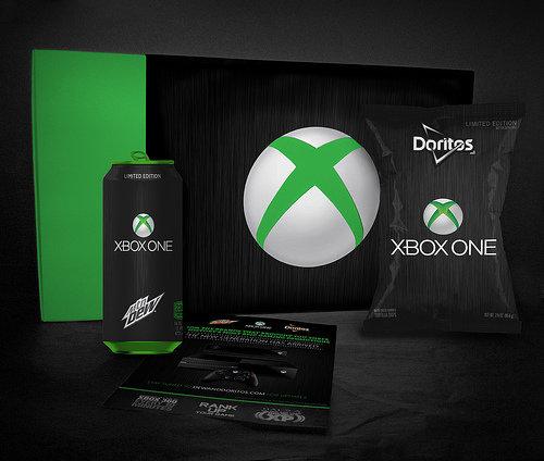 Dewbox One. .. XBO Doritos taste like failure, regret, and the tears of Bill Gates. Xbox Xbone mountain bew Doritoes giveaway