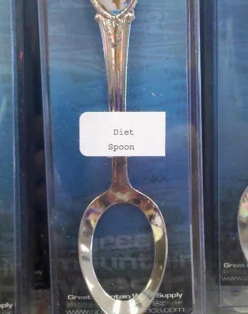 Diet spoon. .. Solution: eat onion rings. Diet spoon Solution: eat onion rings