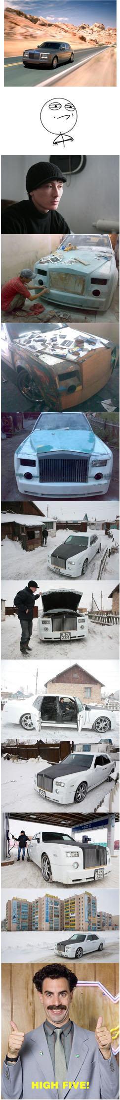 DIY. Rolls Royce Phantom. Rolls-Royce Phantom by Ruslan Mukanov(Shahtinsk, Kazakhstan) Overall expenditures: $3 000. diy car handmade
