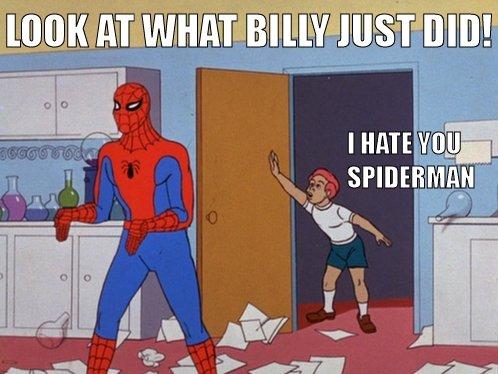 Douche Spiderman. What a tool.. rar; I if Spiderman