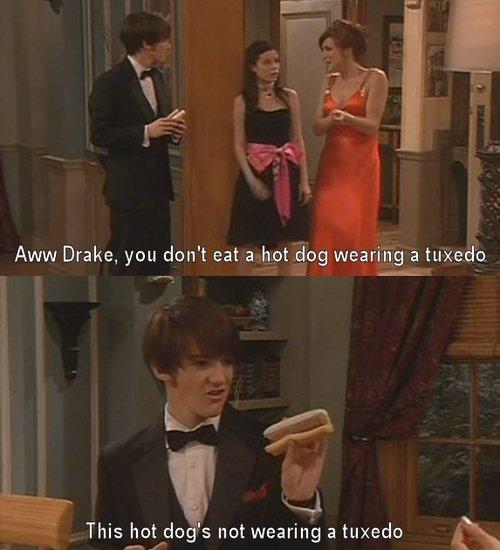 Drake And Josh. . s not wearing a tuxedo iss,. YOU ATE MY ENCHILADA!!!!! drake and Josh hot Dog tuxedo