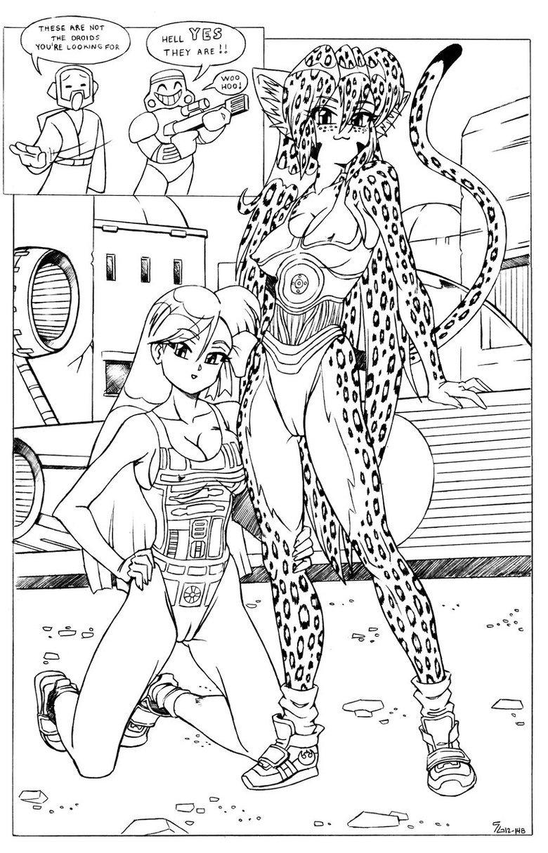 Droids ?. Not mine. But great artist on deviantart: shoxxe.deviantart.com/gallery/.. epic camel toe....? Starwars
