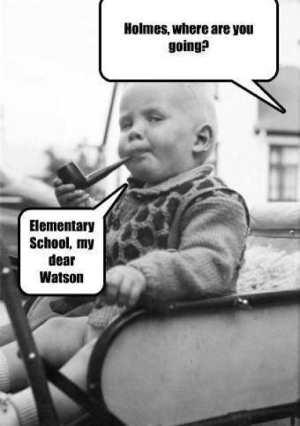 "Elementary. EDIT: Sherlock Holmes never said ""Elementary my dear watson""<br /> Listen fags, you really cannot fathom the immensity of th elementary my dear watson funny"
