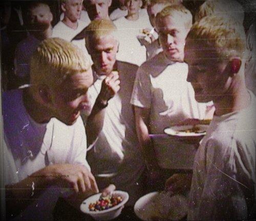 Eminem. Eminems eating Eminems with other Eminem s.. that's not moms spaghetti Eminem
