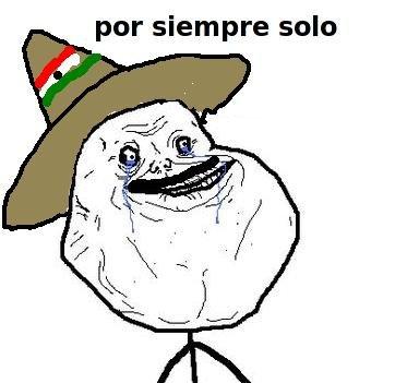 """En ingles?. haha. par siempre salt:. """"como estas?"""" """"por siempre solo"""" me"""
