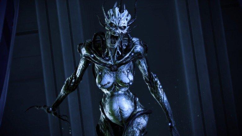 Enderman has a new girlfriend.. .. Banshee. An asari husk. Creepy As Hell. Perfect match. mass effect THRE banshee scream runrunrunrun
