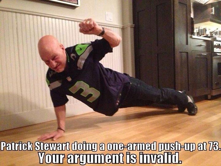 engage!. . Patrick Stewart cpt warp speed no aging