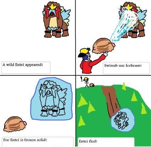 Entei.... Not OC. A wild Entei appeared' Swinub us: Foe Erecti in {roam solid!. entei sled Pokemon