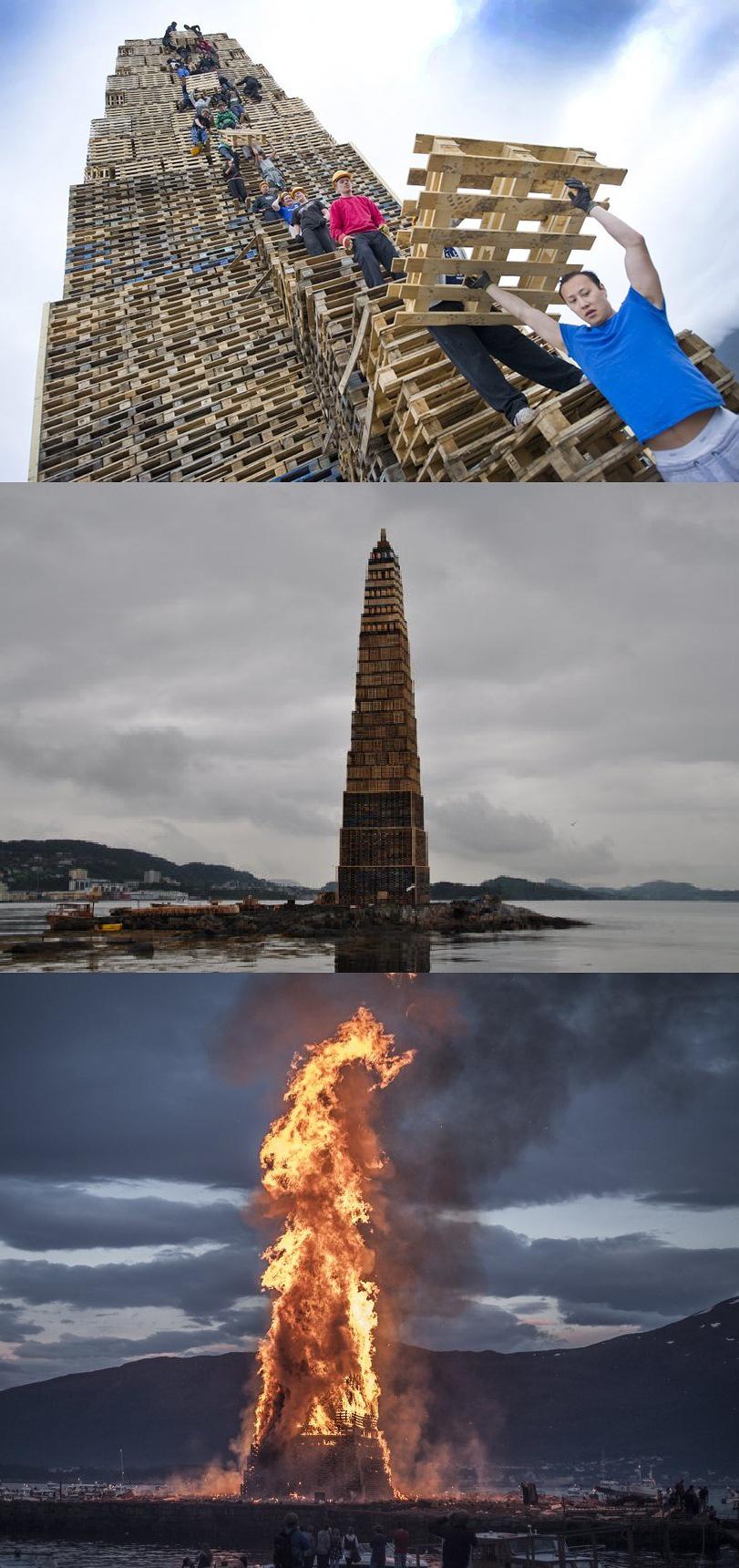 Epic Bonfire. Slinningsbålet 2010 Bonfire World record... The Beacons Are Lit! Gondor calls for Aid! Epic Bonfire Slinningsbålet 2010 World record The Beacons Are Lit! Gondor calls for Aid!