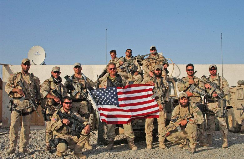Epic Beard Men.. Bearded Men, With Guns... why are those french guys carrying the us flag? epic beard man Men Guns flag us