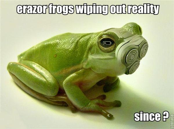 erazor frogs. erazor frogs.. The Battery Is Low!!! erazor frogs