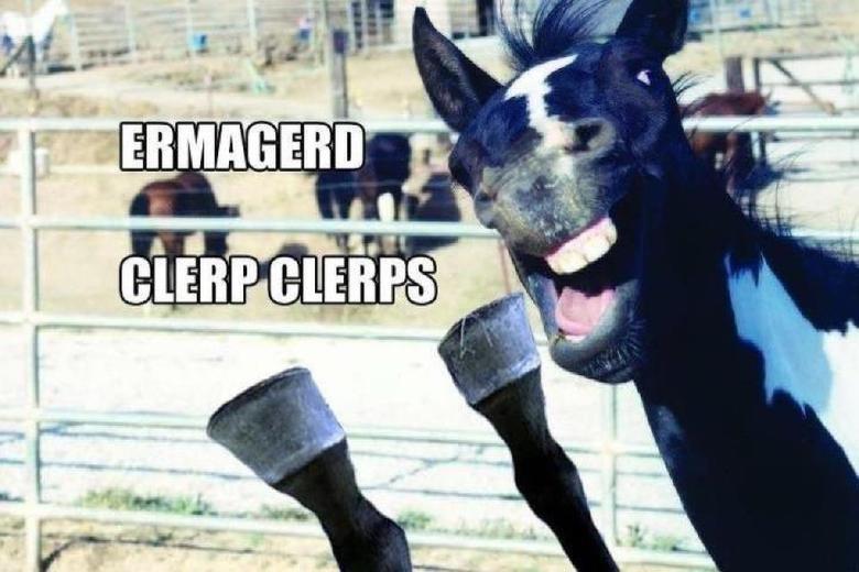 ermagerd. clerp clerps. DURR hurr