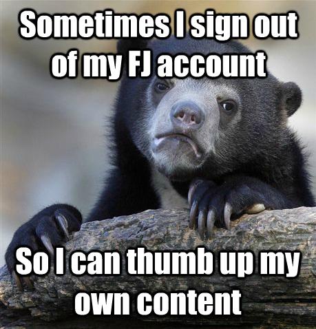 Everyone here. .. You sad sad little man/woman not dragon confession Bear thumb up