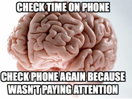 "Everytime.... Bonus Video: www.youtube.com/watch?v=YVBhBYs74MM. wuss"": PAYING scumbag brain checking time cell phone"