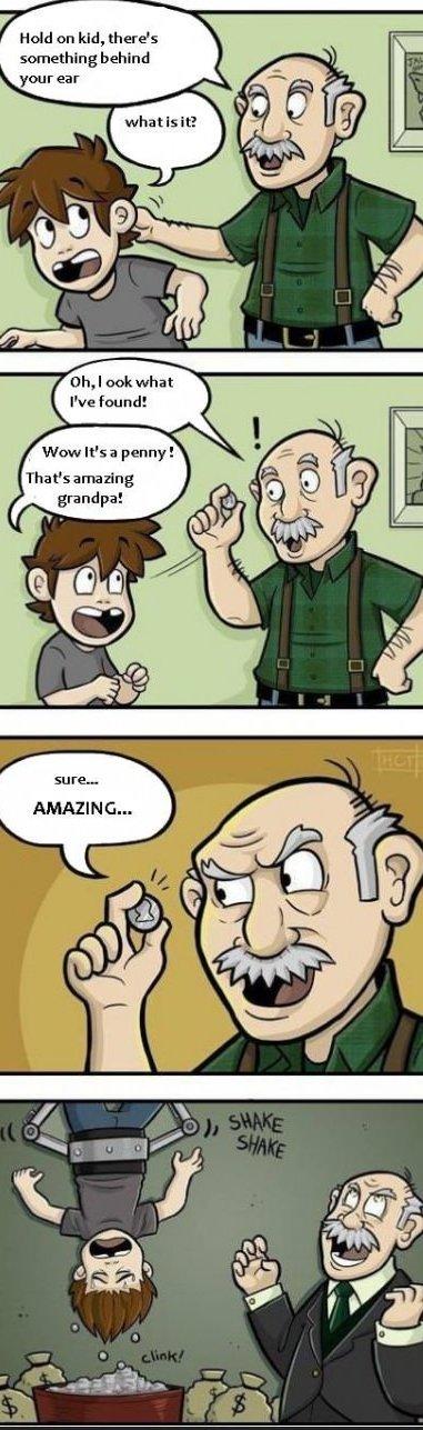 Evil grandpa. Evil grandpa . funny pictures