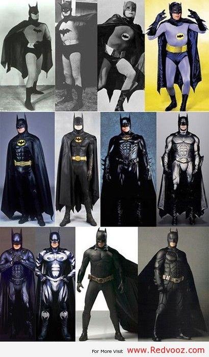 Evolution of Batman. Evolution of Batman. Evolution of Bat batman Batman cosplay batman costume Batman evolution