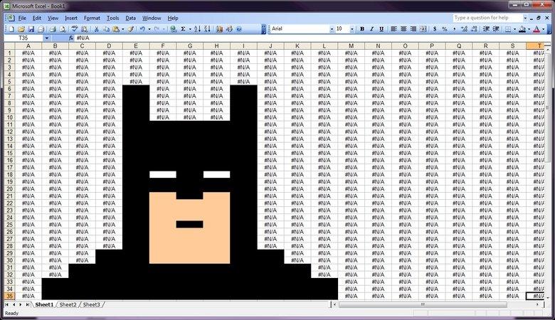 Excel Batman. YEEA. Found on reddit. tr x f. ike Liam Emmi Innat Qatar Lileep. #N/A#N/A#N/A#N/A#N/A#N/A#N/A#N/A BATMAN! yeeeA