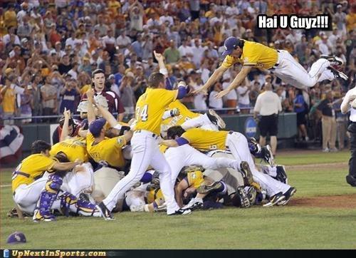Excitement. . Baseball Jump excitement overreaction