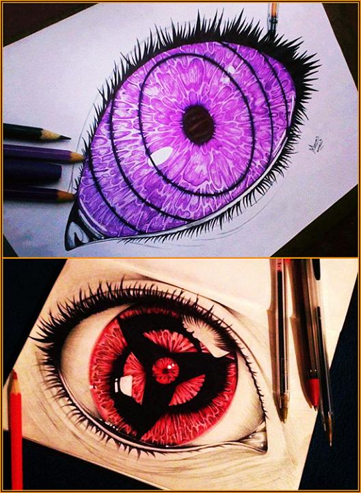eyes. .. Damn that's amazing! Is that that eye mutation discovered by Dr. Sharon Gan? naruto shippuden sharingan rinnegan