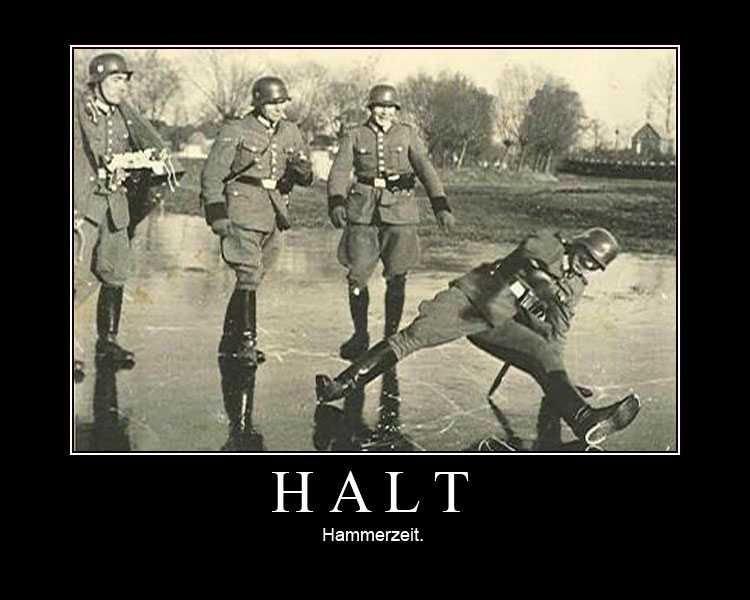 Halt. old but cracks me up.. Heh, german Halt old but cracks me up Heh german