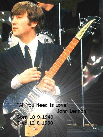 Happy Birthday John Lennon. today is John Lennon's Birthday. Born October 9th 1940 and died December 8th 1980, he will never be forgotten. The Beatles John Lennon Love