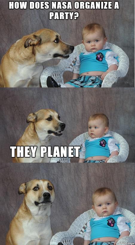 """Harr Harr. . MIN MES MM """" I PM' ATP funny Dog baby Stupid joke"""