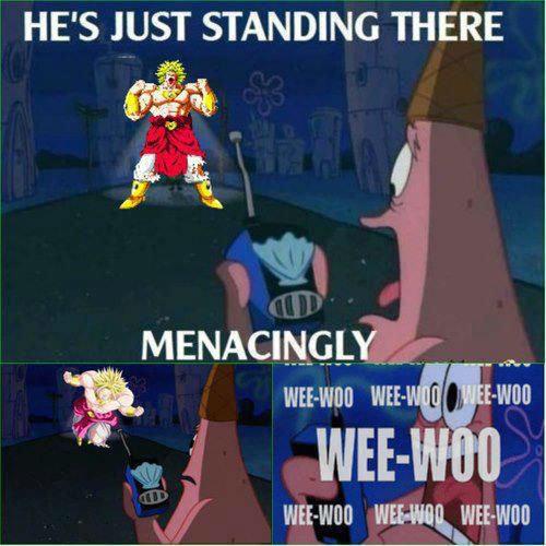 How Patrick Died. . HE' S JUST STANDING THERE 5 'lit I llet. (irelia dbz spongebob