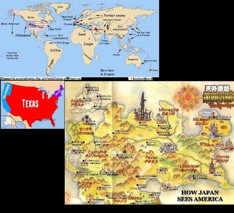 How America views the world. bobobobobo. New best . gods 5, communists! IIZETA no humans i am Spiderman