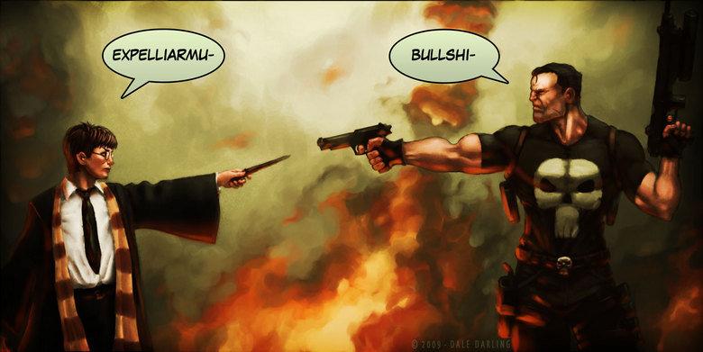 HP vs The Punisher. . HP vs The Punisher