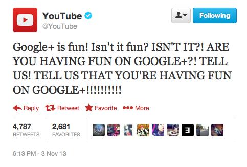 I am having fun on Google+. . El Youtube' In is fun! Isn' t it fun? ISN' T IT?! ARE YOU HAVING FUN ON GOOGLEE?! TELL US! TELL US THAT YOU' RE HAVING FUN In Repl I am having fun on Google+ El Youtube' In is fun! Isn' t it fun? ISN' T IT?! ARE YOU HAVING FUN ON GOOGLEE?! TELL US! US THAT YOU' RE Repl