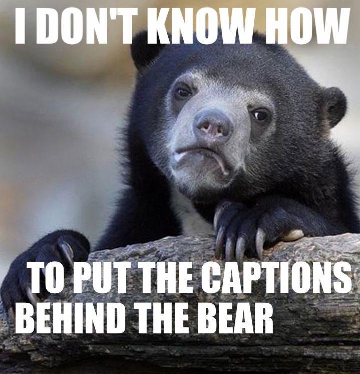 I DON'T KNOW. . sauna THE mm. liek dis? meme confession Bear