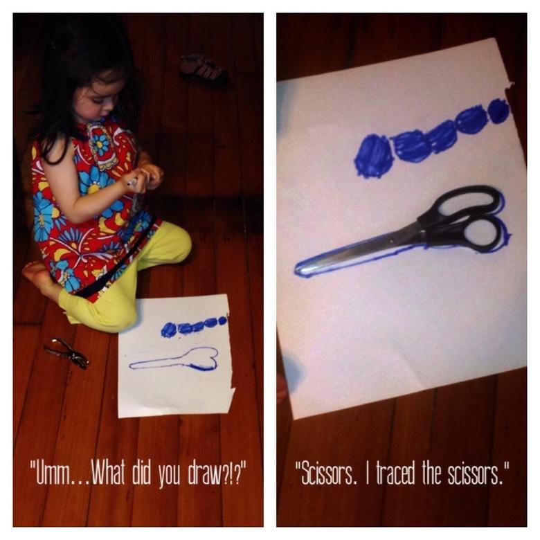 """I drew scissors. So innocent.. What pl draw?"""" """"Scissors. ward the ."""" Scissors Penis draw Art fungus tags"""