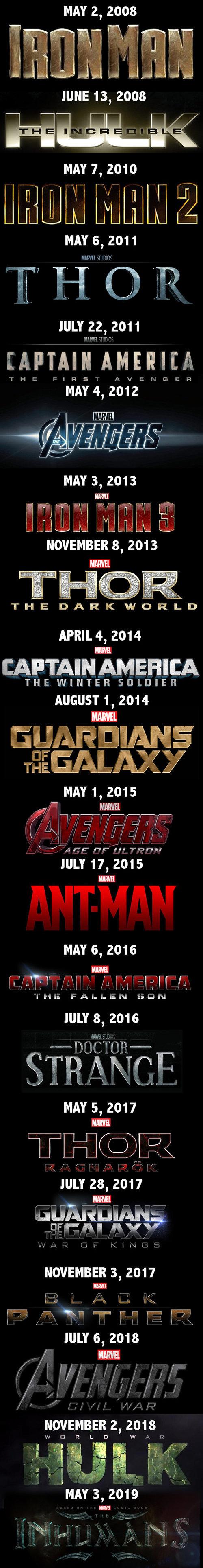 I love Marvel movies. . MAY 2, 2008 JUNE 13, 2008 MAY 7, 2010 MAY 6, 2011 JULY 22, 2011 MAY 3, 2013 NOVEMBER 8, 2013 APRIL 4, 2014 THE WINTER ] LI] IEH AUGUST 1 I love Marvel movies MAY 2 2008 JUNE 13 7 2010 6 2011 JULY 22 3 2013 NOVEMBER 8 APRIL 4 2014 THE WINTER ] LI] IEH AUGUST 1