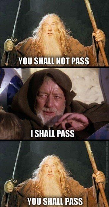 I pass. . You I pass You
