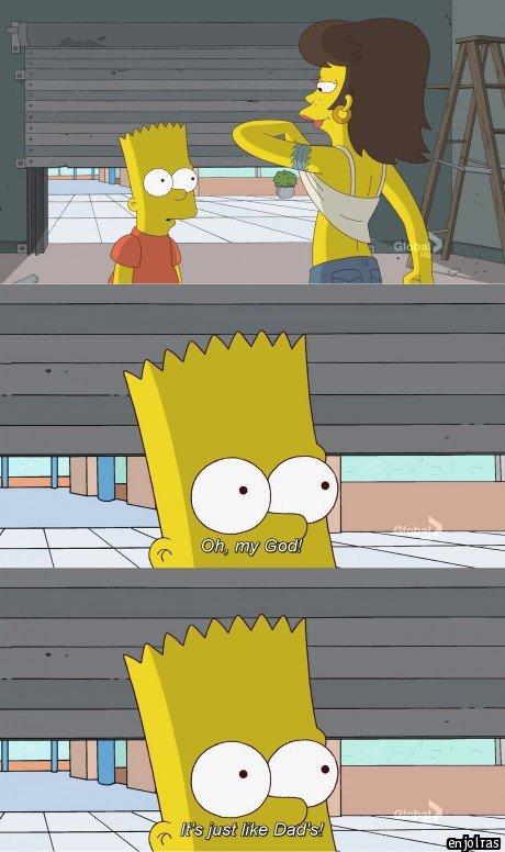I- uhhh.... Okay..... .. Homer's man-boobs look like a teenage girls tits? I- uhhh Okay Homer's man-boobs look like a teenage girls tits?