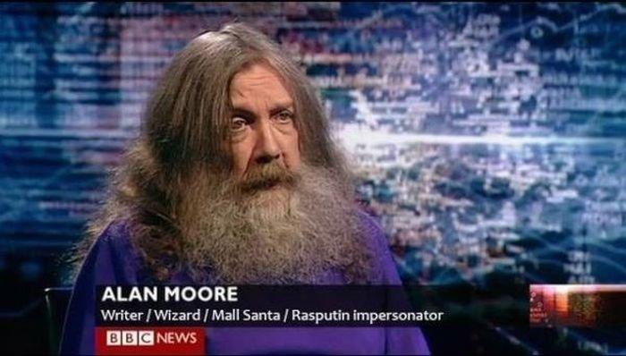 I want to be this guy. Rasputin? Awesome.... ALAN MOORE Writer I Wizard I Mall Santa I Ra shutin impersona tor IE NEWS. I had an erection when I saw his face. When I saw his various jobs my erection got harder. I want to be this guy Rasputin? Awesome ALAN MOORE Writer Wizard Mall Santa Ra shutin impersona tor IE NEWS had an erection when saw his face When various jobs my got harder