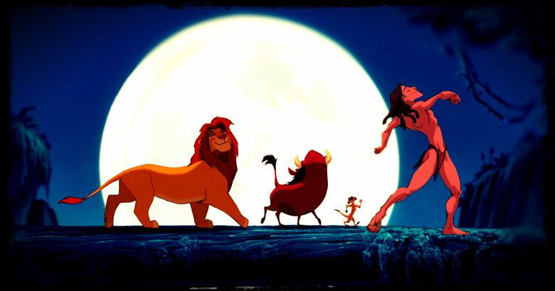 I Wish. .. Then you realize Tarzan would kill Simba for his pelt, then eat Pumba while Timon watched. Lion king tarzan simba timone pumba