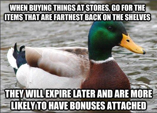 I work at a drug store. . 8 THIN' ME BREE m a' kishi. As a shelf stacker, you. Advice Shopping Duck bonus expire