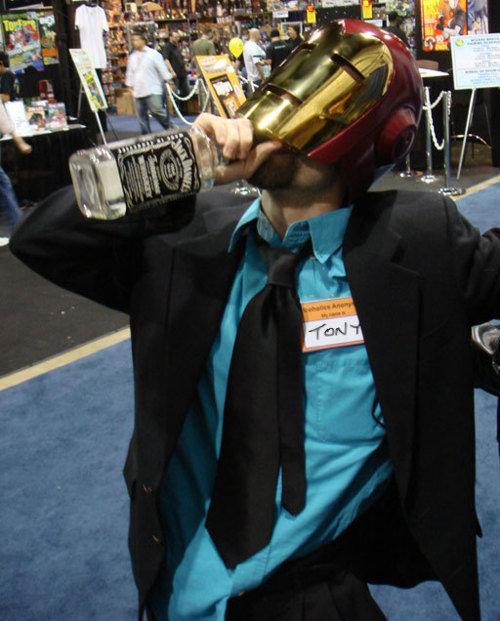 I am Iron Man. The Real Tony Stark<br /> ( via ).. Anyone got a match? ironman iron man cosplay Costume tony stark jack daniels Alcohol