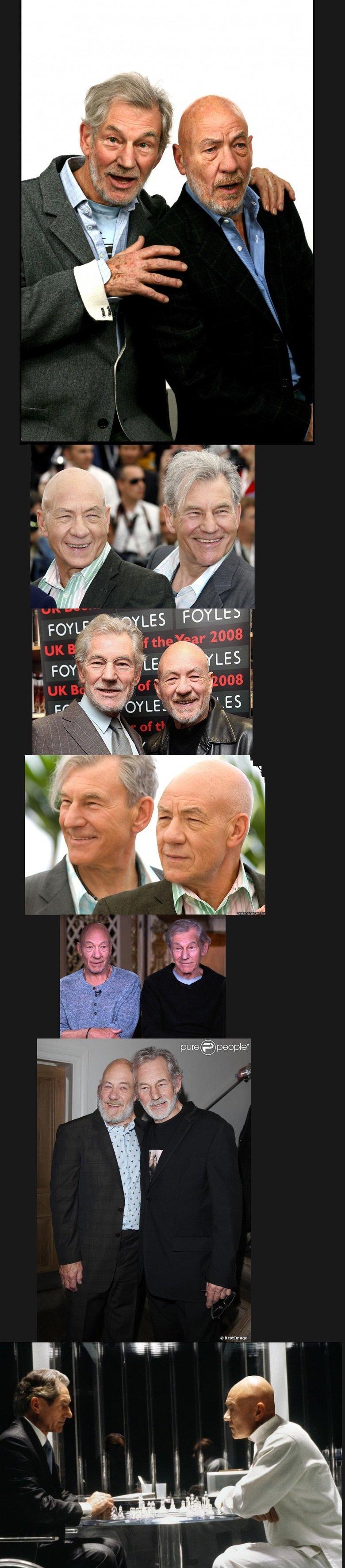 Ian McKellen & Patrick Stewart face swap. .. it still looks so legit.... Ian McKellen & Patrick Stewart face swap it still looks so legit