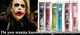 Ice poles. .. Holy crap yes, like little damn razors. joker Ice scars