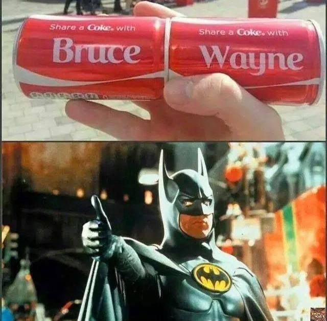 I'd do it. .. Share a coke with Mr. Wayne and Mrs.Wayne I'd do it Share a coke with Mr Wayne and Mrs