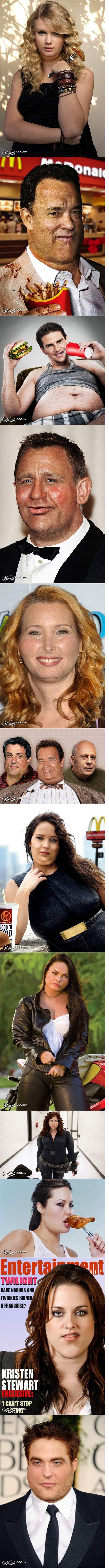 If celebrities were fat. .. Robert Fattison. Fat mo fuckas