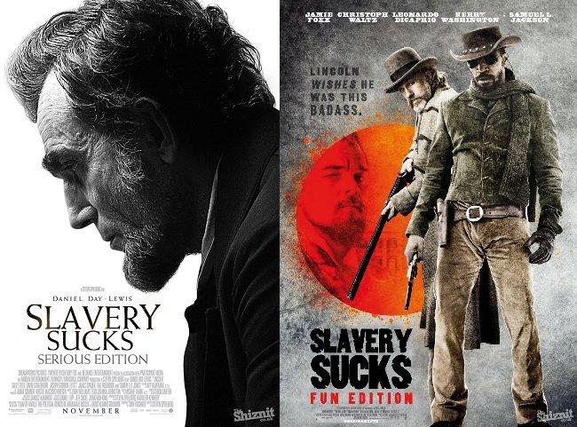 If movies were honest. . THEE SLAVERY SUCKS Mtl EFL If movies were honest THEE SLAVERY SUCKS Mtl EFL
