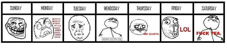 If Days Were Memes. .. Wednesday days meme week bugkiller
