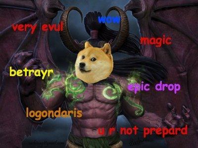 illidoge stormdoge. wow. doge wow much illidan glaive lol haha dat doge