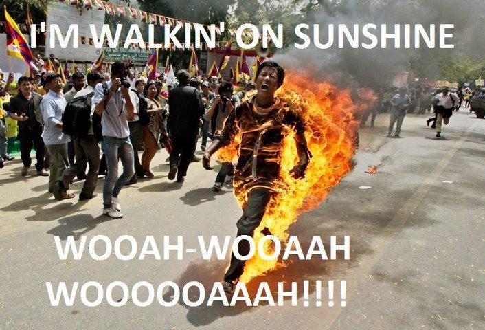 I'm walkin' on sunshine. Yeah!.. Also I'm walkin' on sunshine Yeah! Also