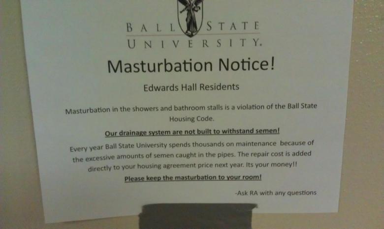 Important Notice. Dammit 3rd floor get your together!. masturbation Notice