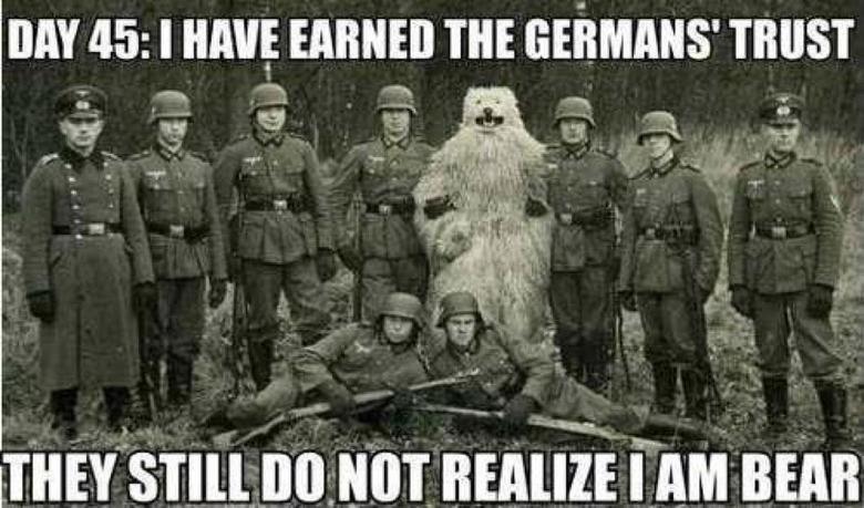"imposter. . Butif 45: I HAVE EARNED THE Gei' GMANS' TRUST i"" ii Em nun Bears"