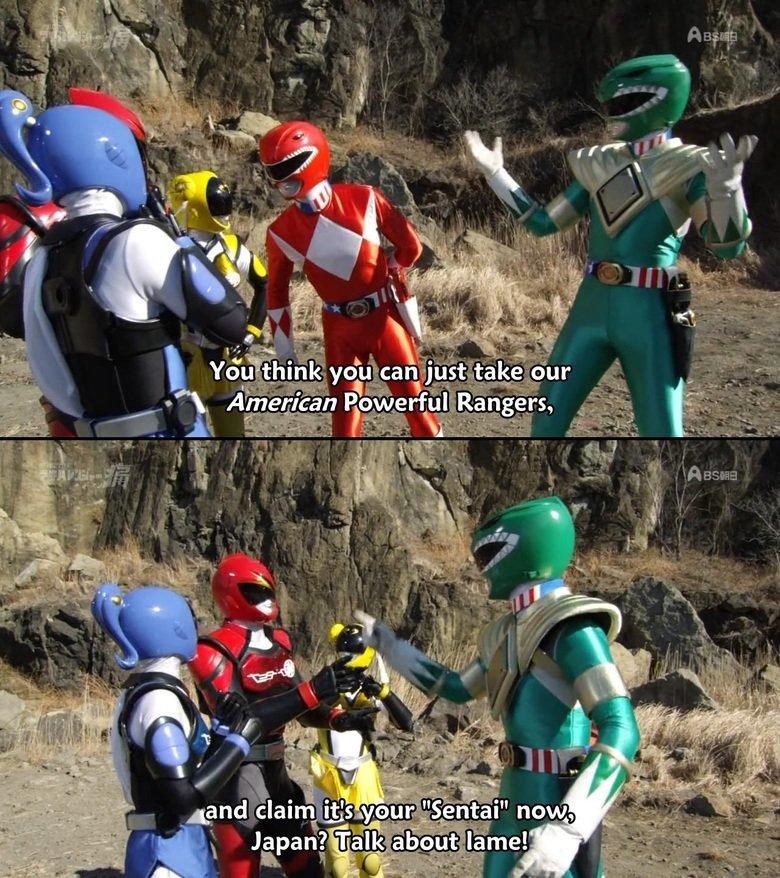 In a different world. Unofficial Sentai Akibaranger - 05. intil. I prefer the German Power Rangers dragon tyranno Akiba
